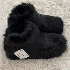 ugg amary faux black fur slippers